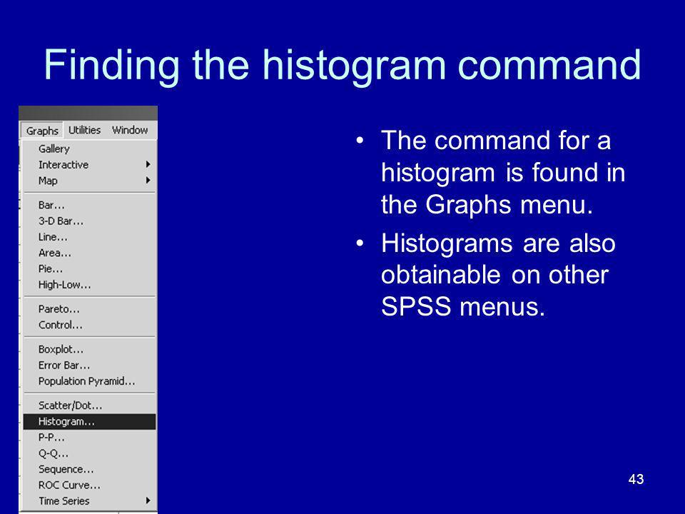 Finding the histogram command