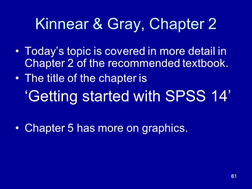 'Getting started with SPSS 14'