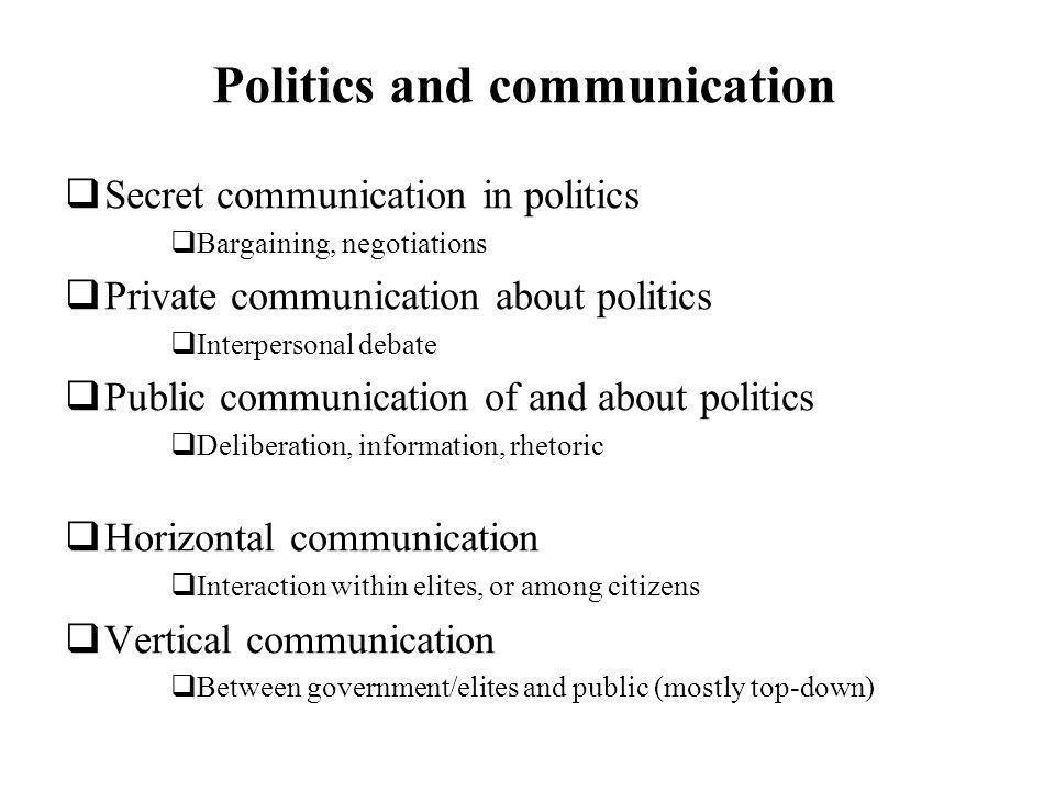 Politics and communication