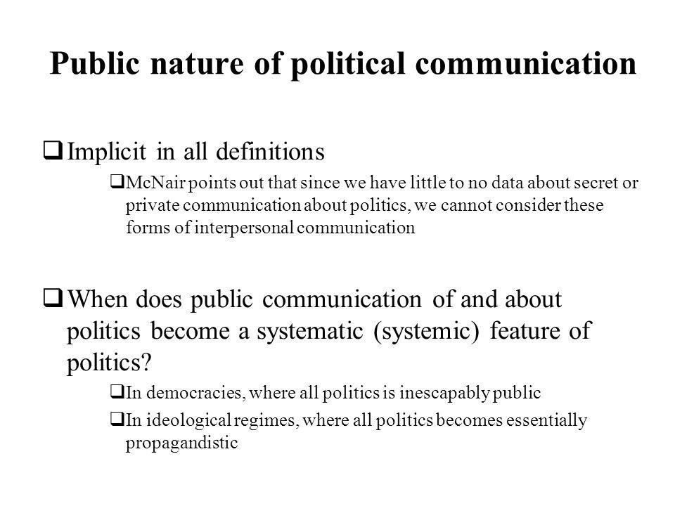 Public nature of political communication