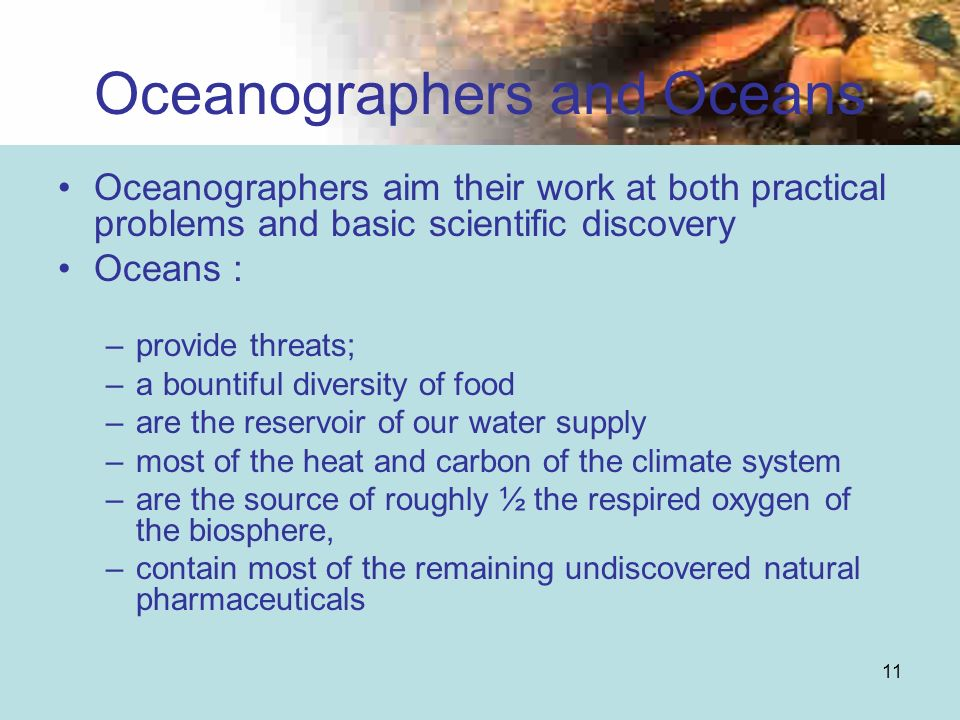 Oceanographers and Oceans