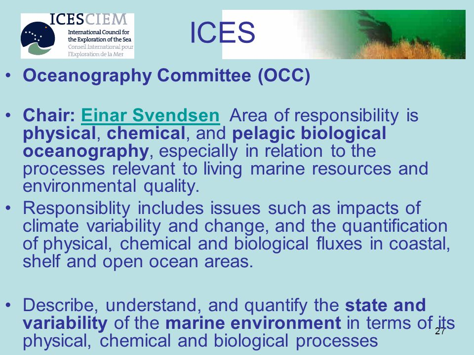 ICES Oceanography Committee (OCC)