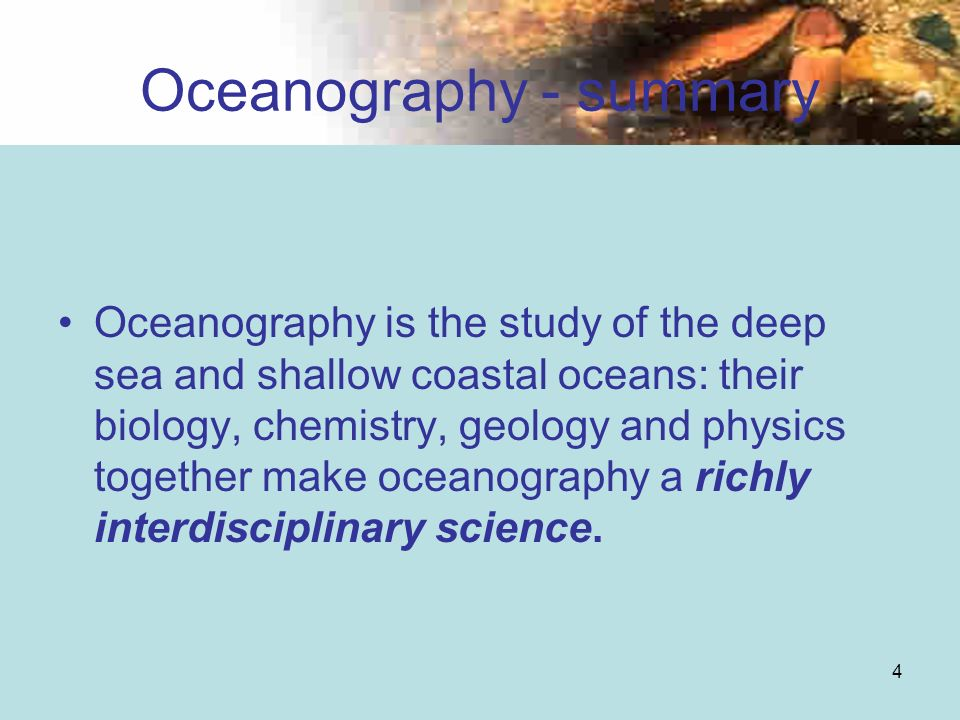 Oceanography - summary