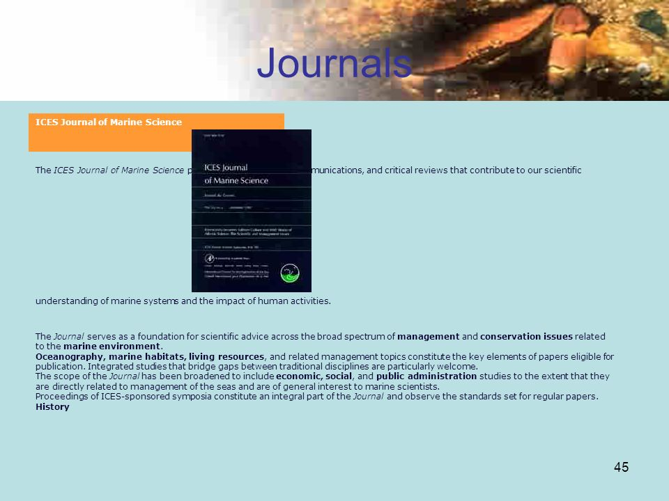 Journals ICES Journal of Marine Science
