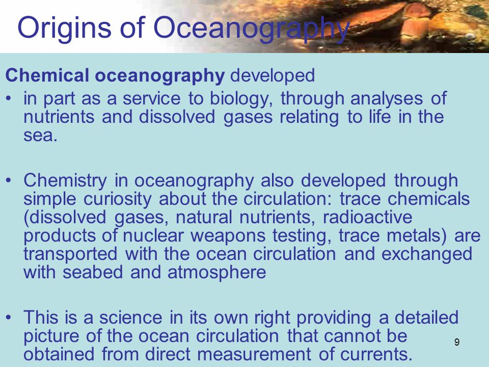 Origins of Oceanography