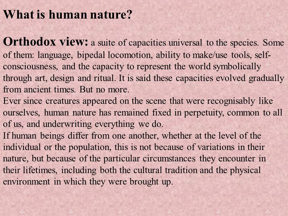 What is human nature
