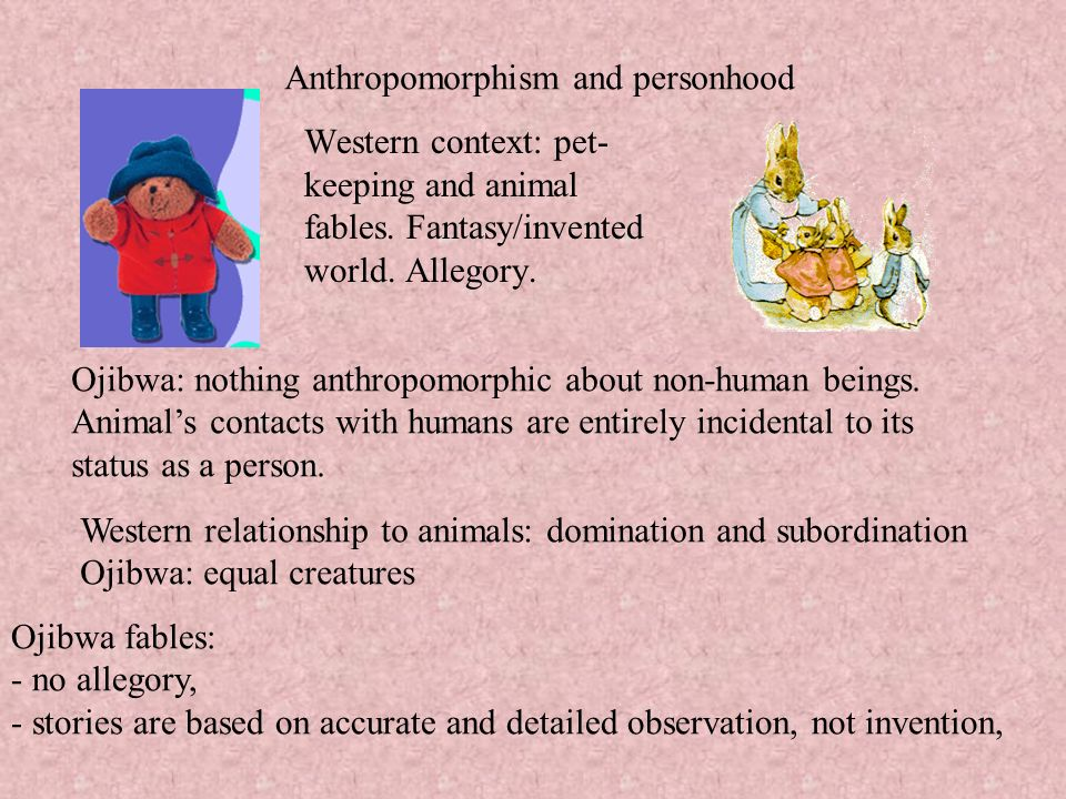 Anthropomorphism and personhood
