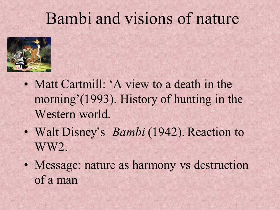 Bambi and visions of nature