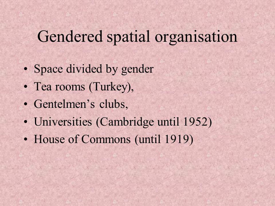 Gendered spatial organisation