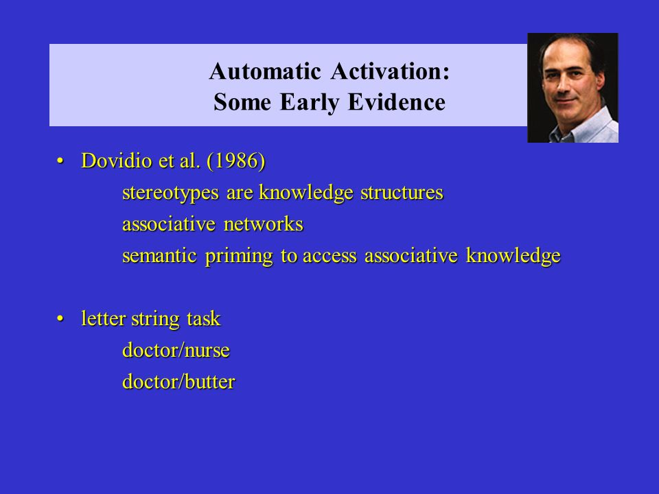 Automatic Activation: Some Early Evidence