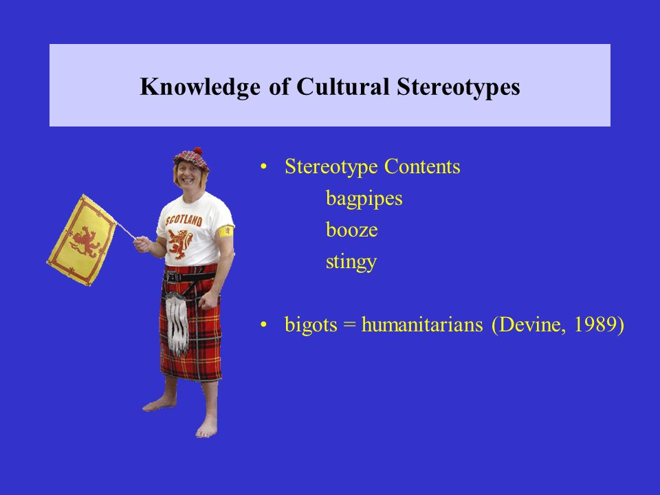 Knowledge of Cultural Stereotypes