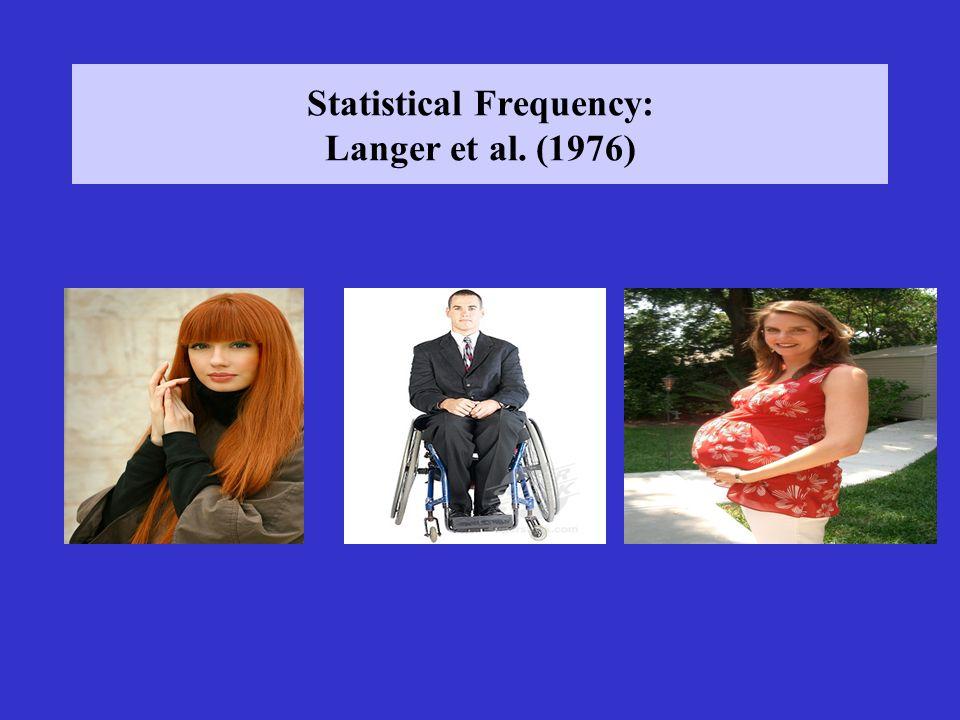 Statistical Frequency: Langer et al. (1976)