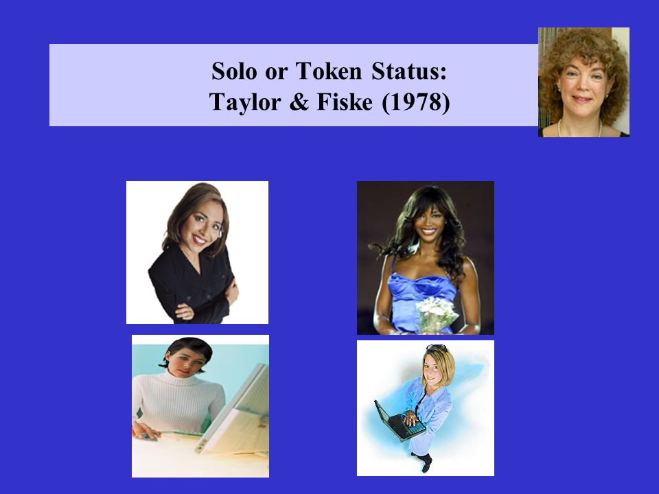 Solo or Token Status: Taylor & Fiske (1978)