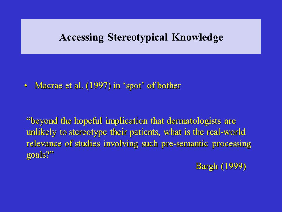 Accessing Stereotypical Knowledge