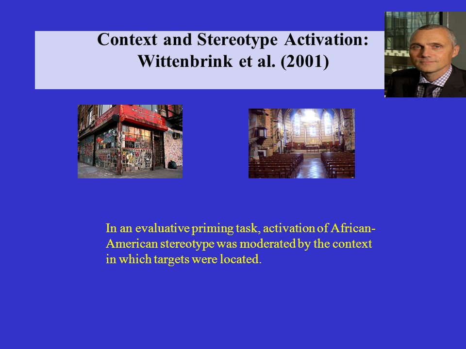 Context and Stereotype Activation: Wittenbrink et al. (2001)