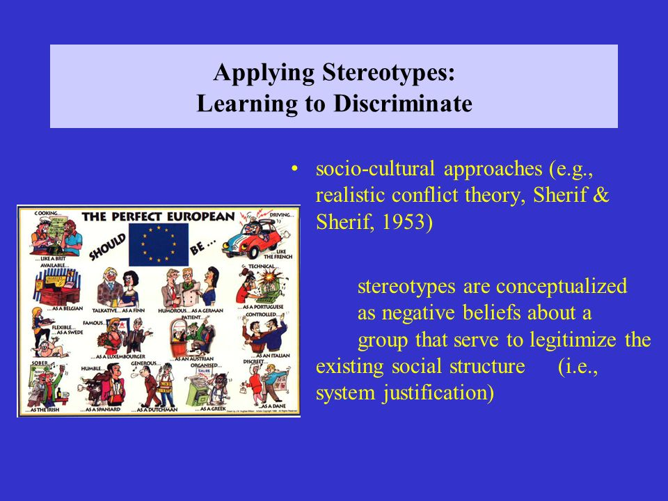 Applying Stereotypes: Learning to Discriminate