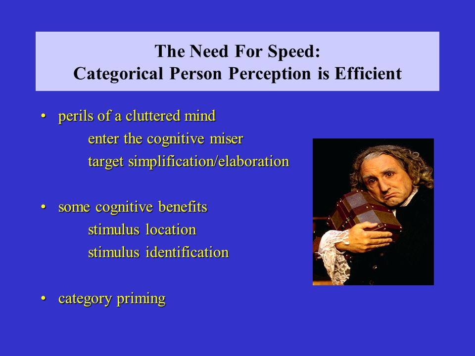 The Need For Speed: Categorical Person Perception is Efficient