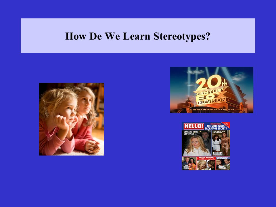 How De We Learn Stereotypes