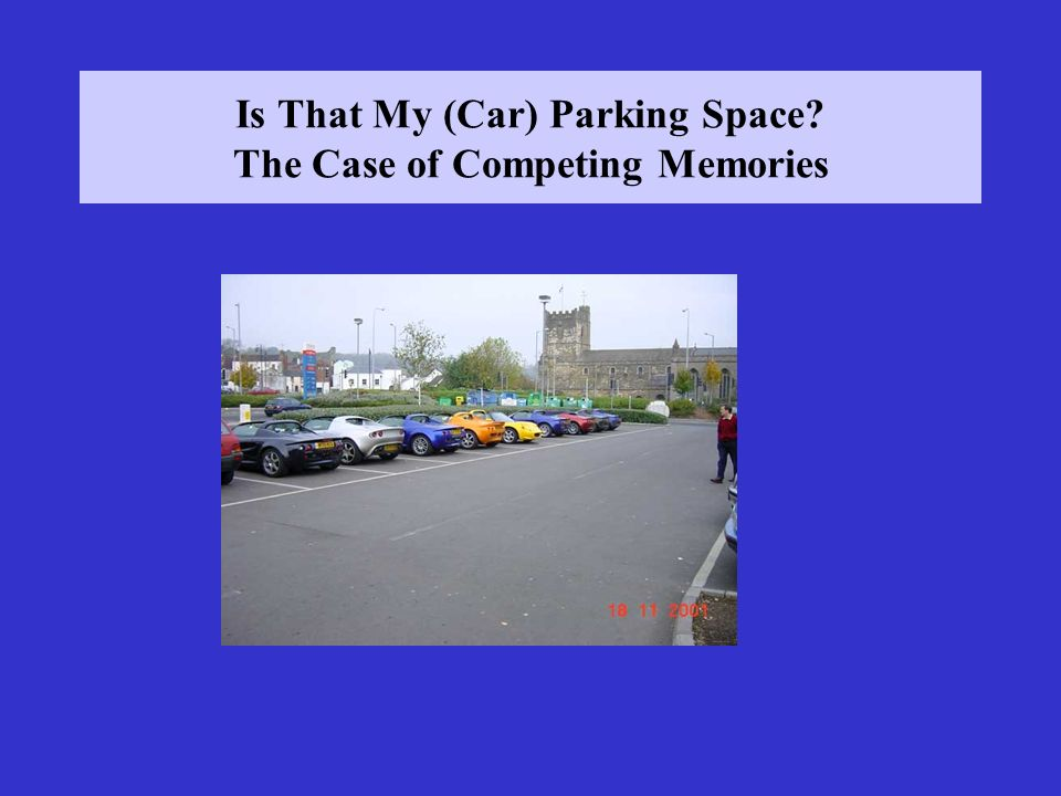 Is That My (Car) Parking Space The Case of Competing Memories