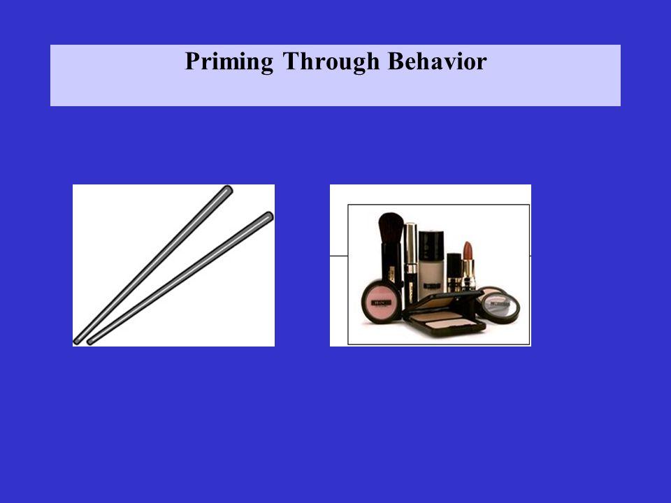 Priming Through Behavior