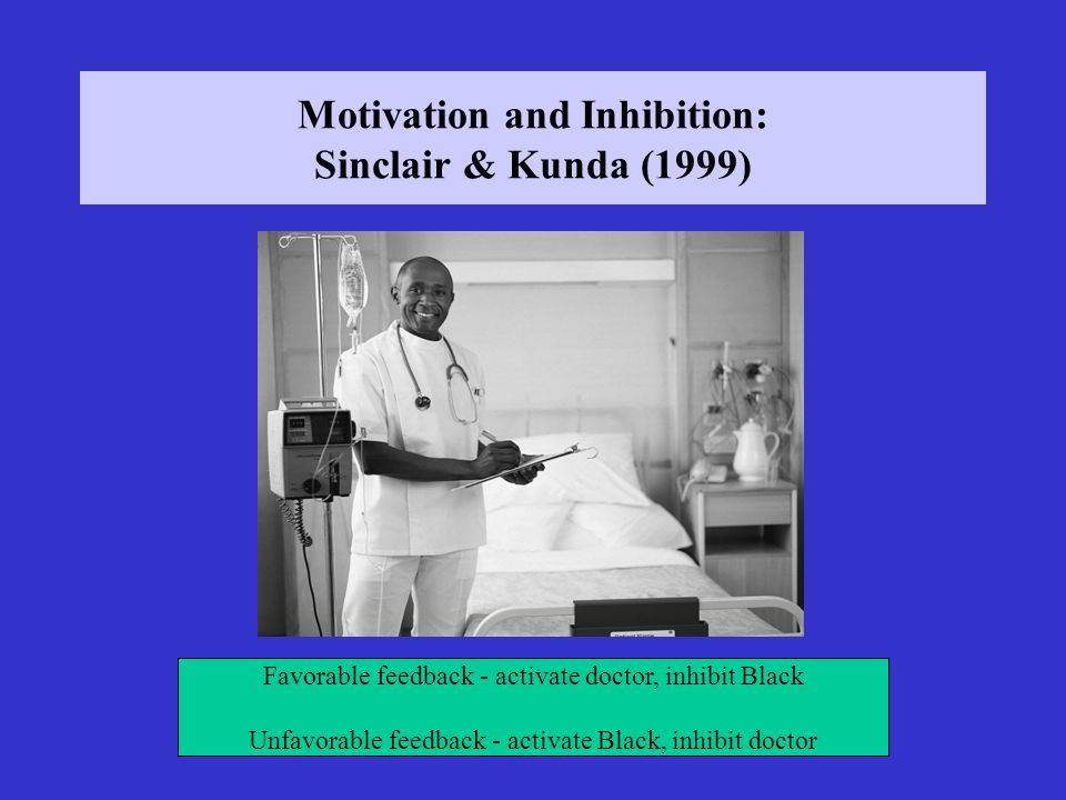 Motivation and Inhibition: Sinclair & Kunda (1999)