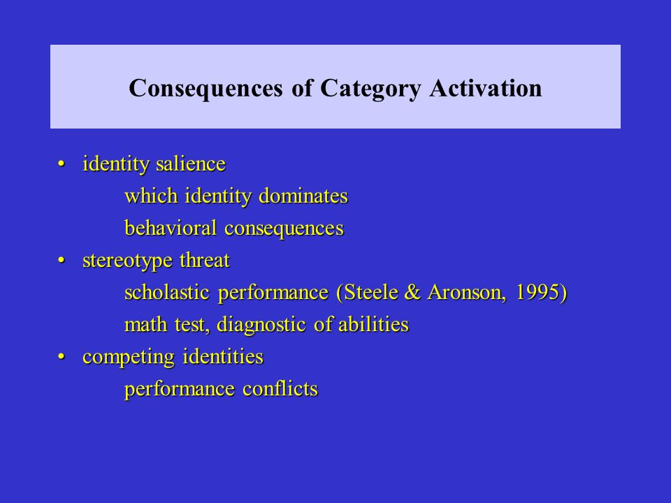 Consequences of Category Activation