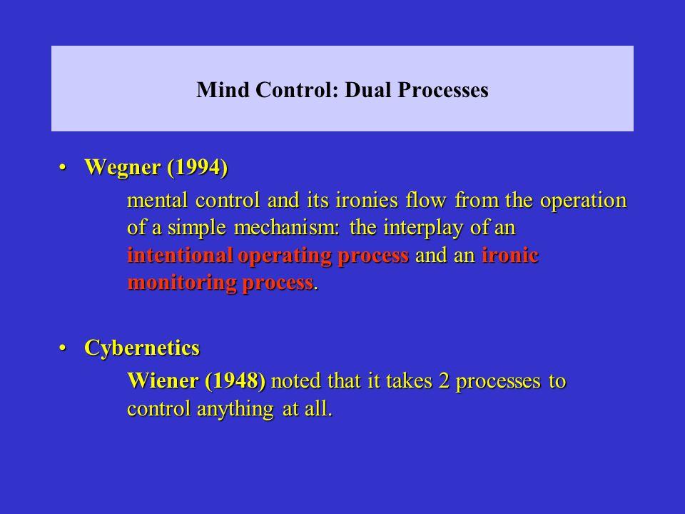 Mind Control: Dual Processes