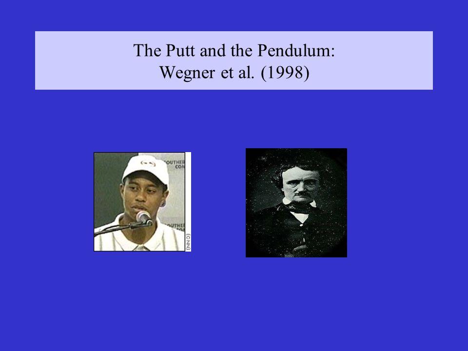 The Putt and the Pendulum: Wegner et al. (1998)