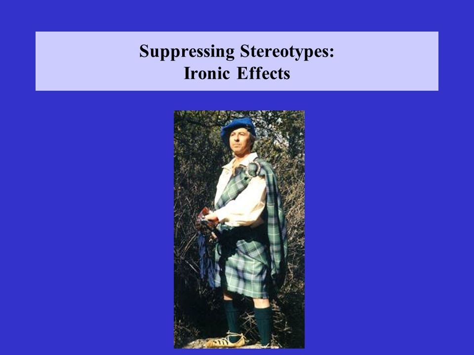 Suppressing Stereotypes: Ironic Effects
