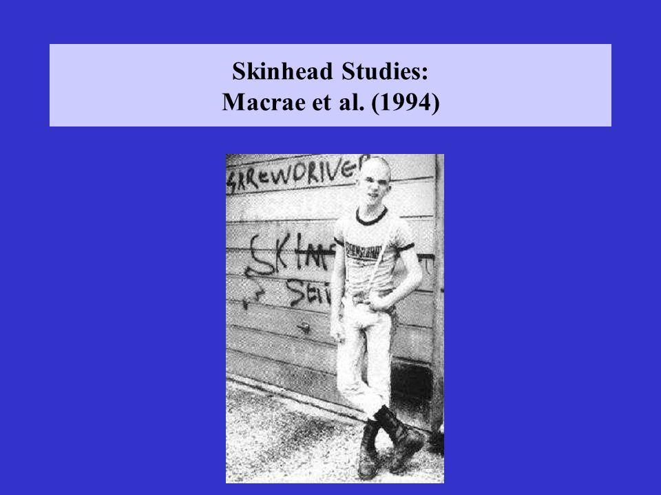 Skinhead Studies: Macrae et al. (1994)
