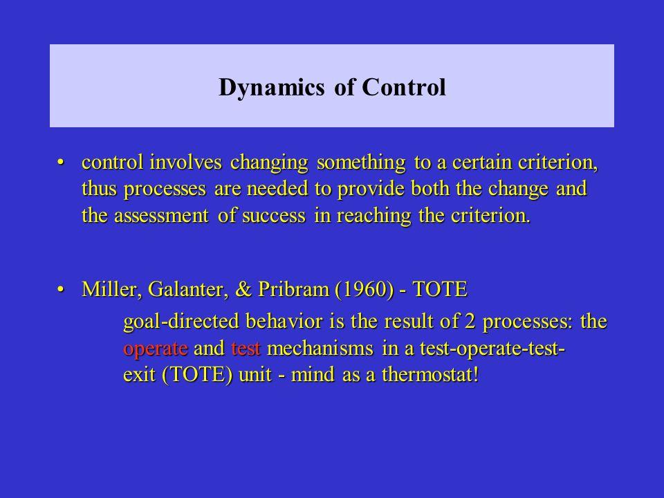 Dynamics of Control