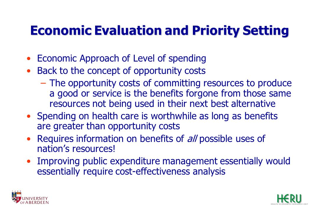 Economic Evaluation and Priority Setting