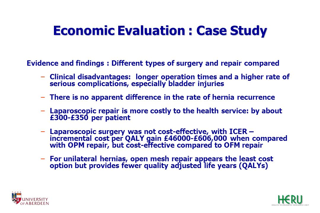 Economic Evaluation : Case Study