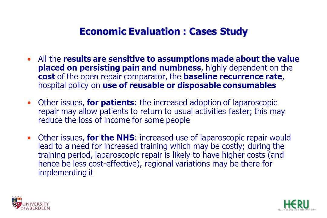 Economic Evaluation : Cases Study