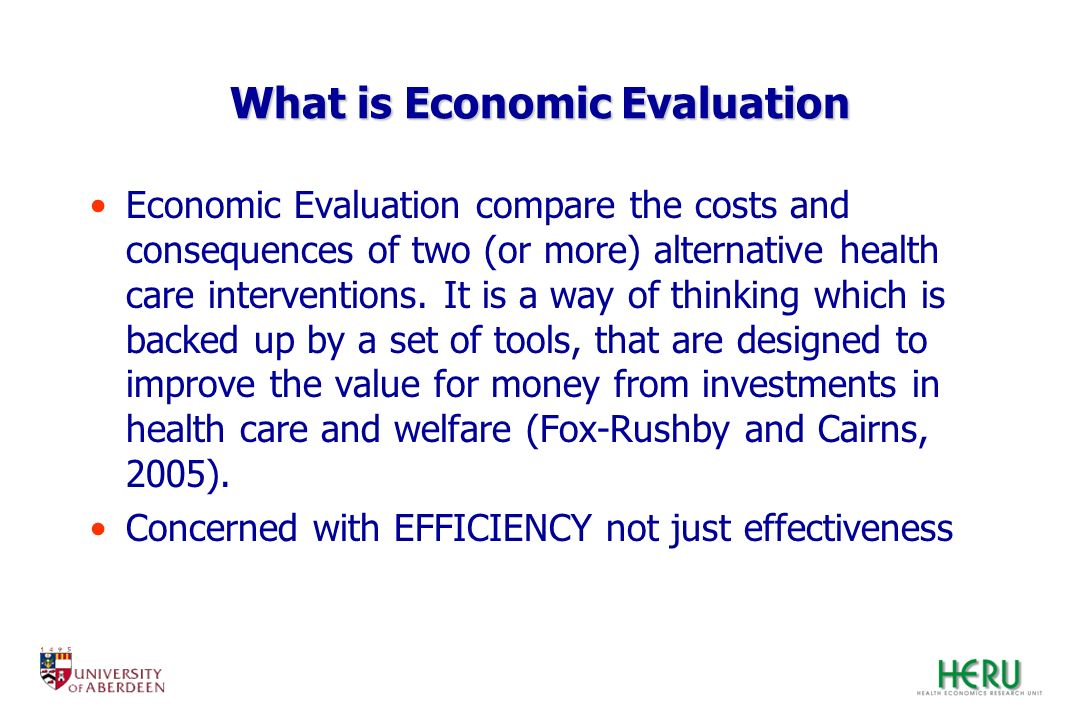 What is Economic Evaluation