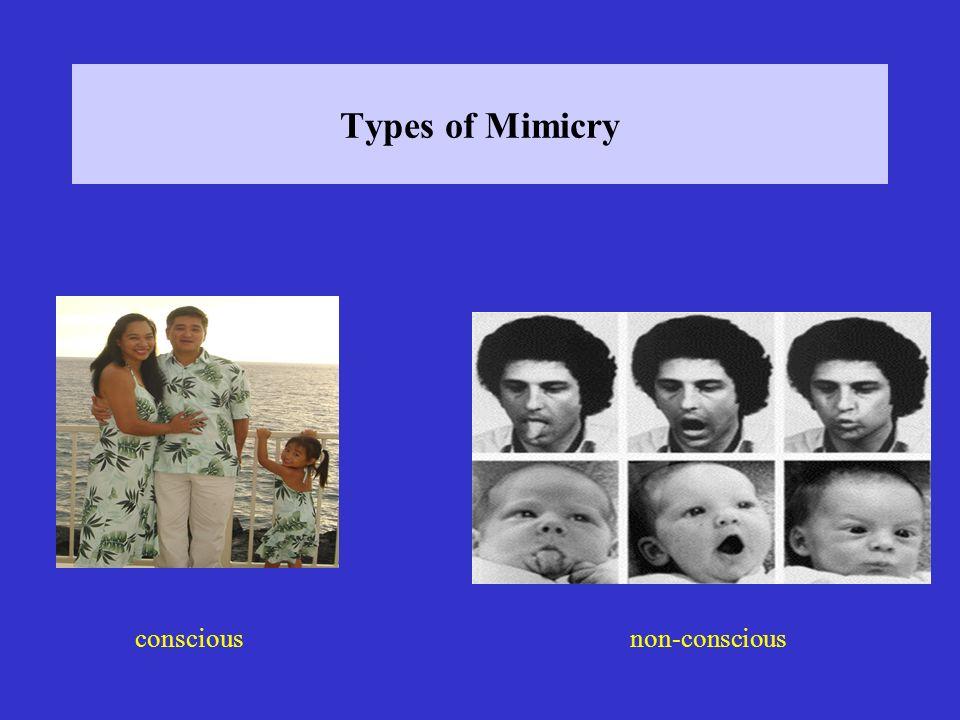 Types of Mimicry conscious non-conscious