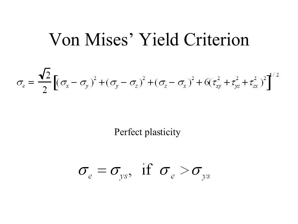 Von Mises' Yield Criterion
