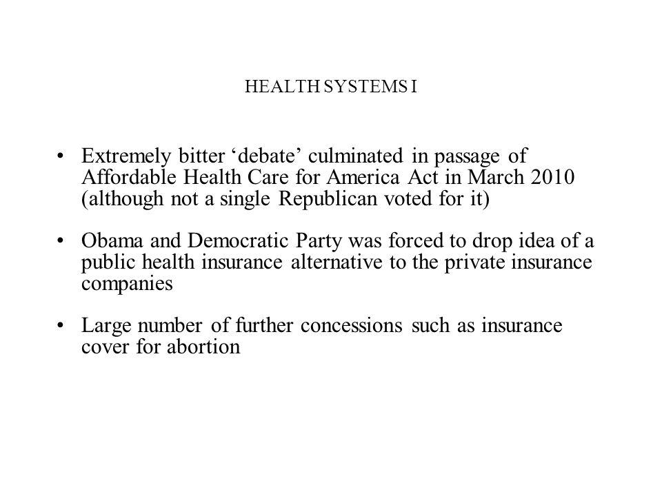 HEALTH SYSTEMS I