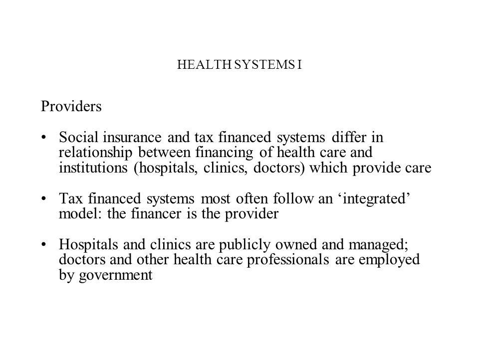 HEALTH SYSTEMS I Providers.