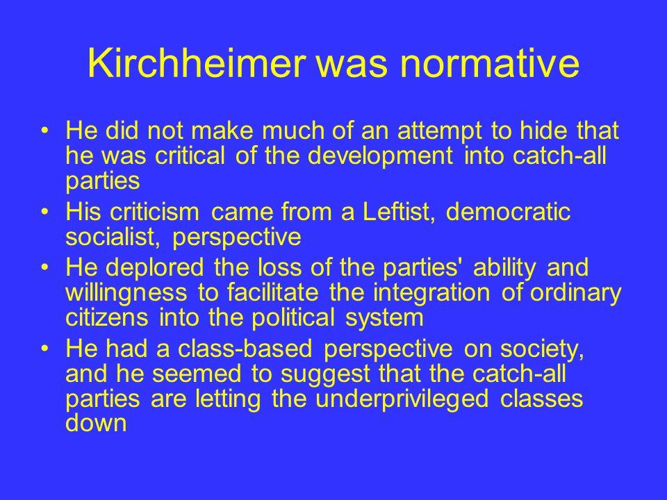 Kirchheimer was normative