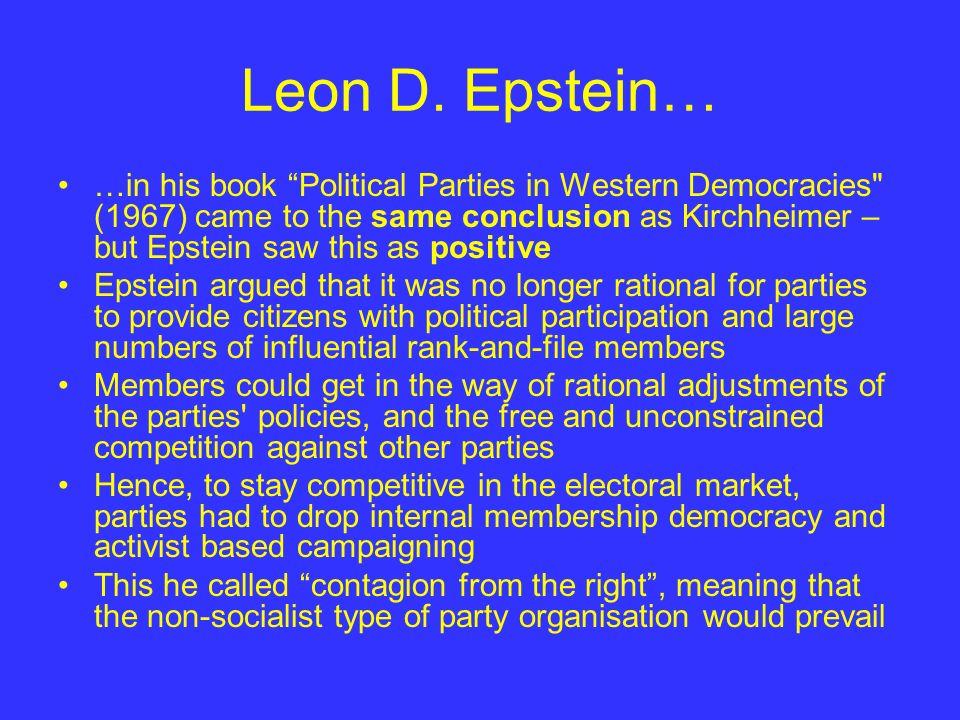 Leon D. Epstein…