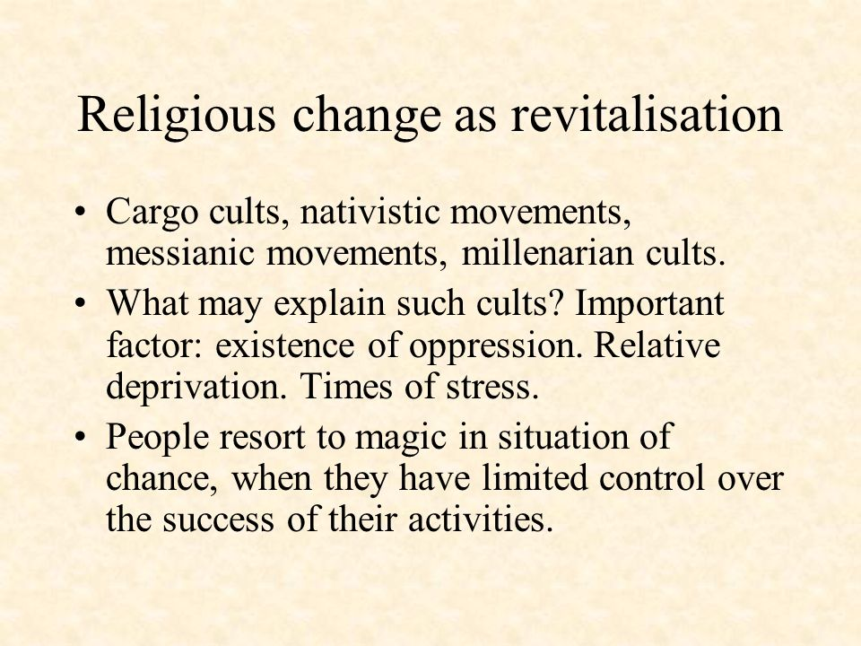 Religious change as revitalisation