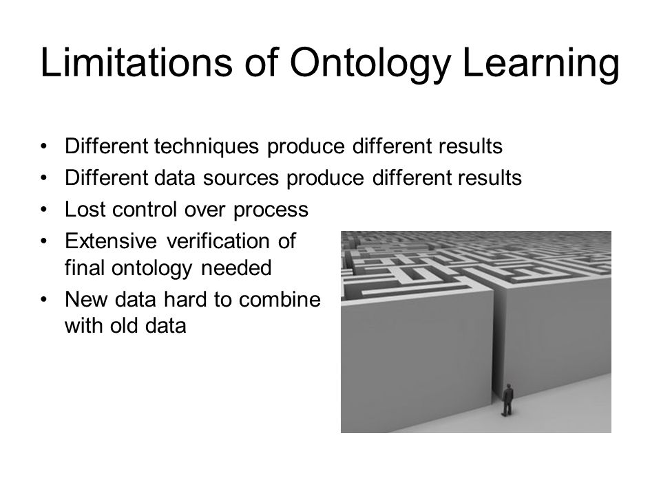 Limitations of Ontology Learning