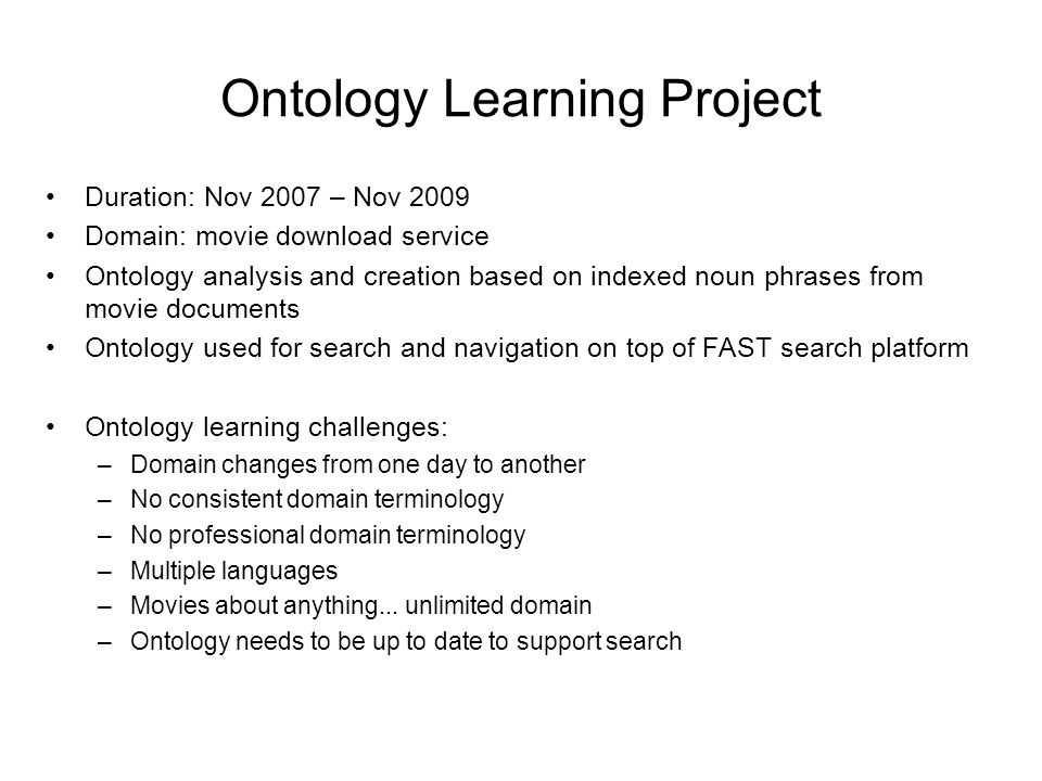 Ontology Learning Project