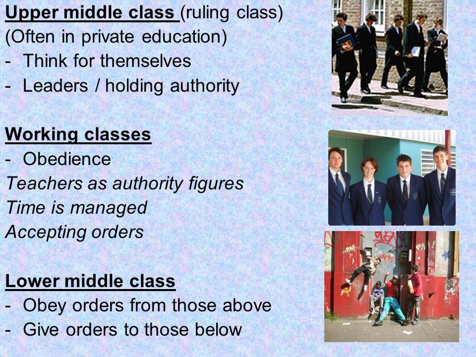 Upper middle class (ruling class)