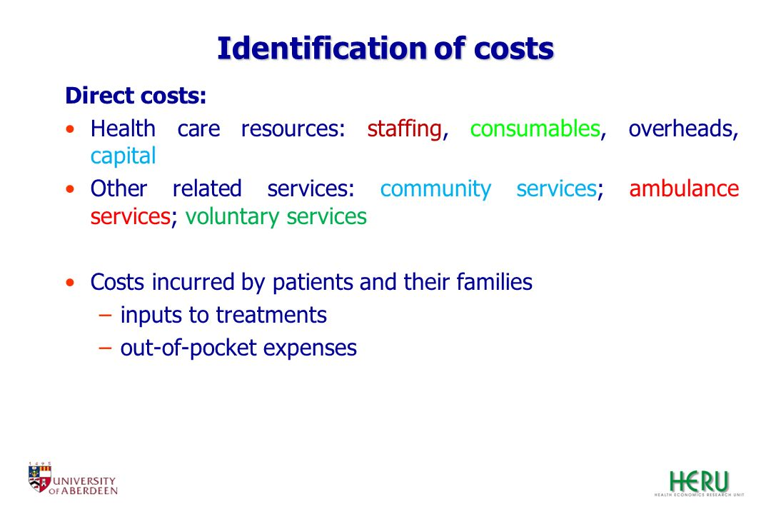 Identification of costs