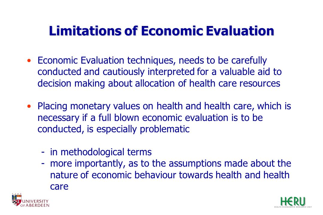 Limitations of Economic Evaluation