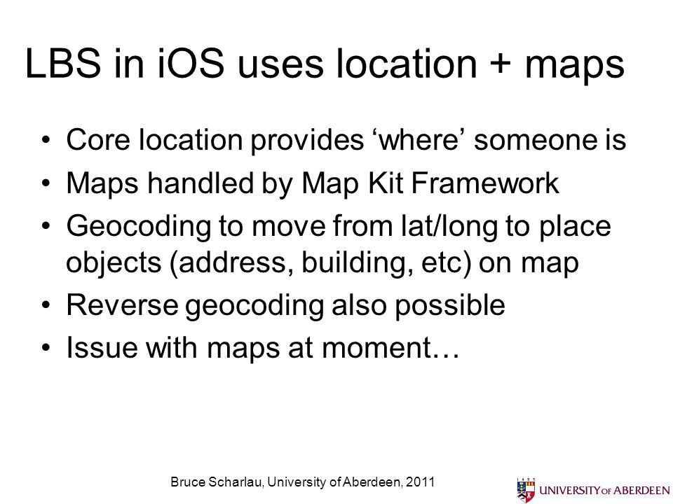 LBS in iOS uses location + maps