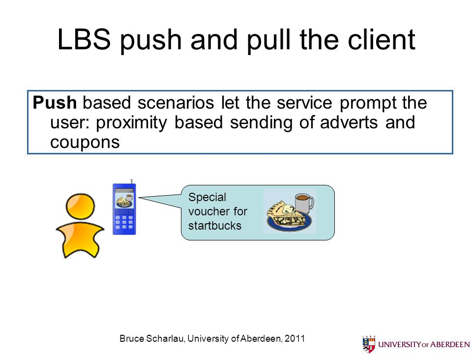 LBS push and pull the client