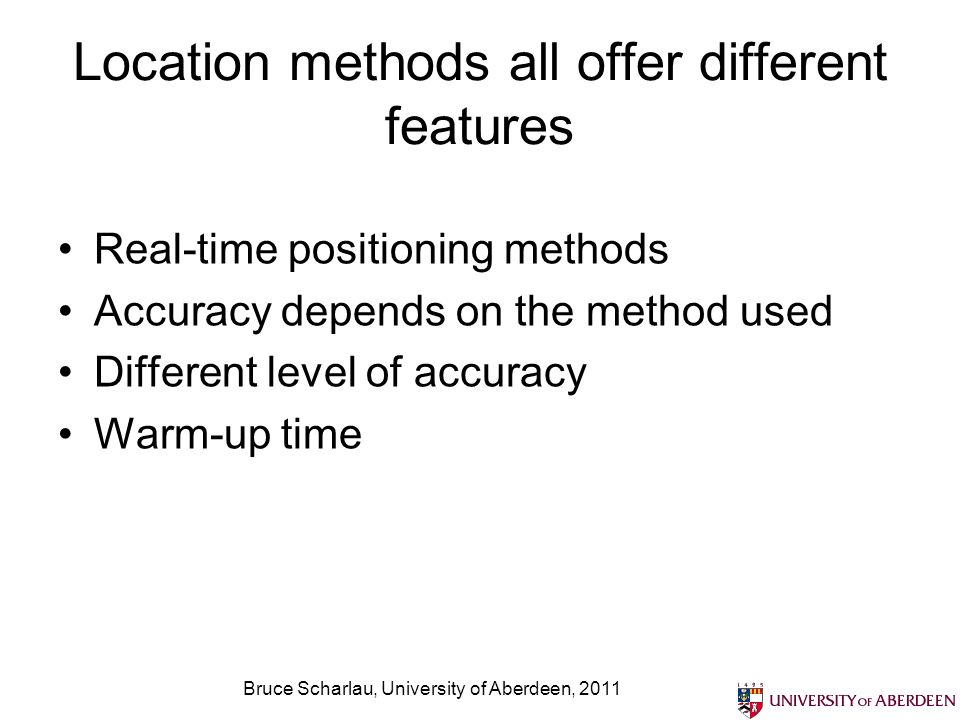 Location methods all offer different features